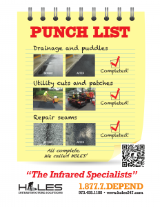 HOLES Infrastructure Solutions - Asphalt Repair Paving Punch List NJ-1