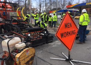 HOLES Solutions infrared asphalt technology demo in Rochester, NY.