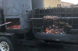 The TankQue, monster grilling machine