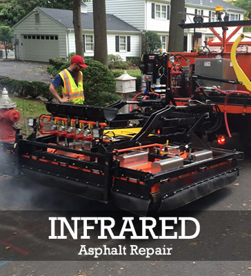 State of the art infrared asphalt repair nj services by HOLES Solutions.
